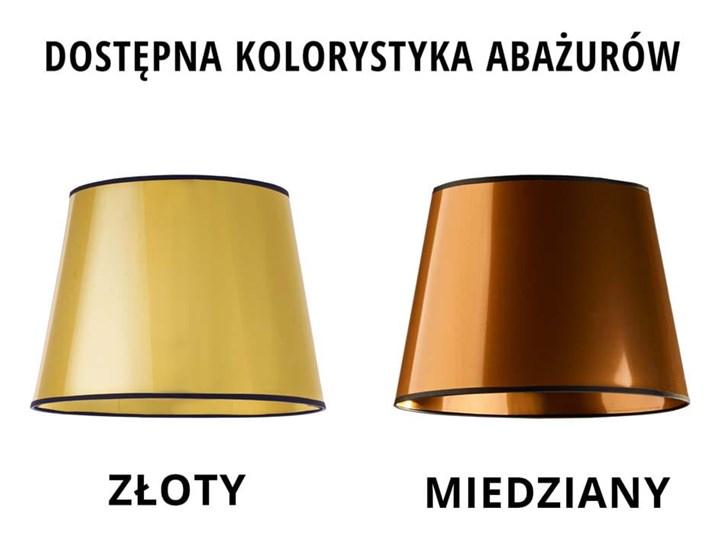 LAMPA NA STOLIK KANIS STOŻEK WELUR GOLDEN Wysokość 50 cm Chrom Tkanina Lampa z abażurem Stal Styl Nowoczesny