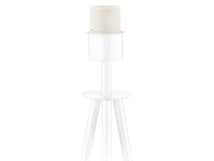 LAMPA NA STOLIK KANIS STOŻEK WELUR GOLDEN Tkanina Lampa z abażurem Kategoria Lampy stołowe Wysokość 50 cm Stal Chrom Styl Nowoczesny