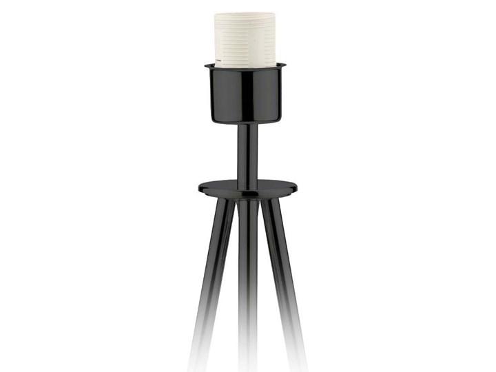 LAMPA NA STOLIK KANIS STOŻEK WELUR GOLDEN Tkanina Wysokość 50 cm Lampa z abażurem Chrom Kategoria Lampy stołowe Stal Styl Nowoczesny