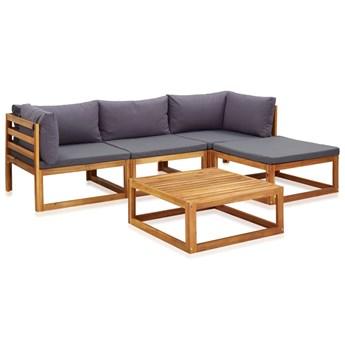 5-cz. zestaw mebli ogrodowych z poduszkami, drewno akacjowe