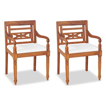Zestaw drewnianych krzeseł ogrodowych - Kselia 2X