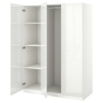 IKEA PAX / FARDAL Kombinacja szafy, biały/połysk biały, 150x60x201 cm