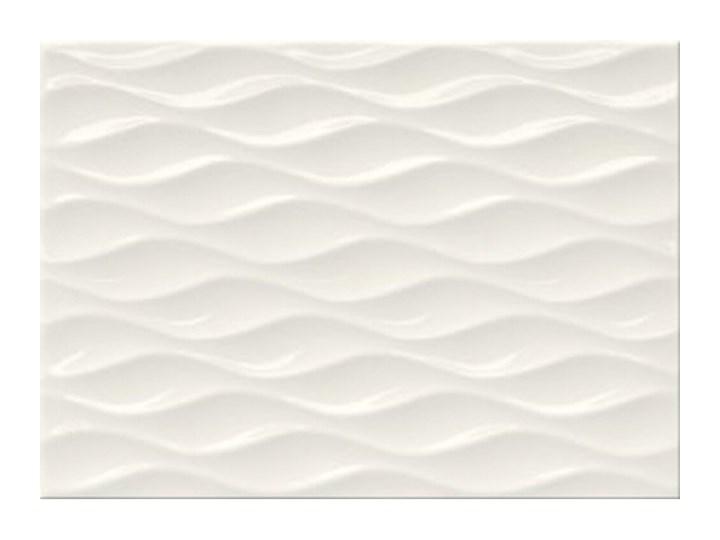 Płytka ścienna TANIA white structure glossy 25x35 gat. I