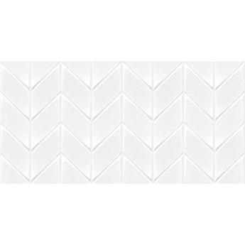 Płytka ścienna dekor CANBERRA white satyna zygzak 30x60 gat. I