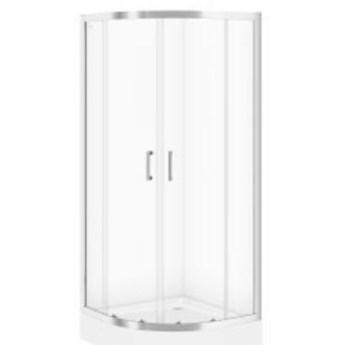Kabina prysznicowa półokrągła BASIC 80x185 szkło transparentne z brod