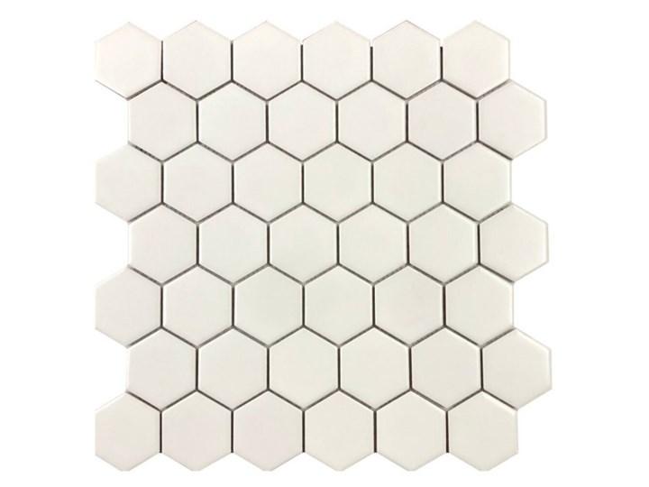 Mozaika gresowa MEDIUM HEXAGONES white mat 30x30 gat. I