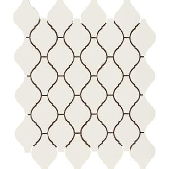 Mozaika gresowa white Arabesque mat 30x30 gat. I