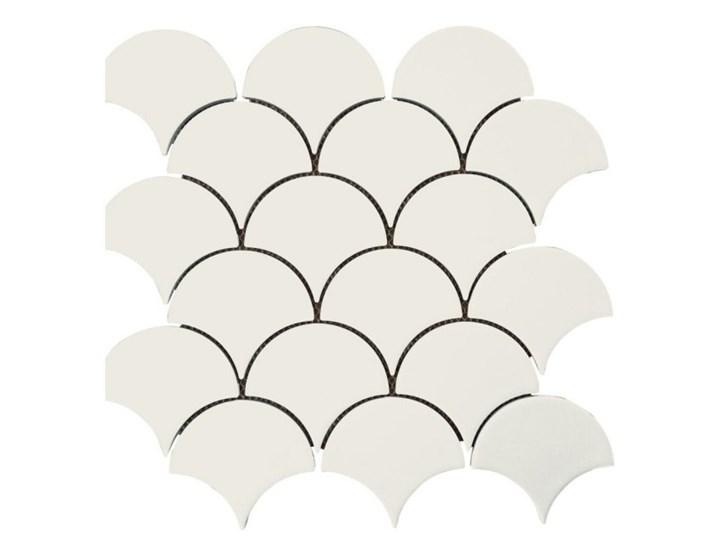 Mozaika gresowa white Fish scale mat 30x30 gat. I