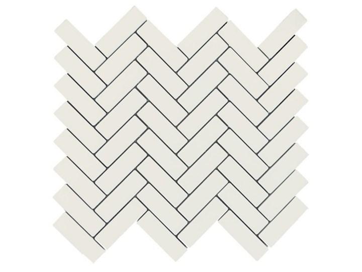 Mozaika gresowa white Herring Bone mat 30x30 gat. I