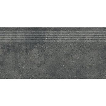 Gres szkliwiony stopnica GIGANT dark grey mat 29x59,3 gat. I
