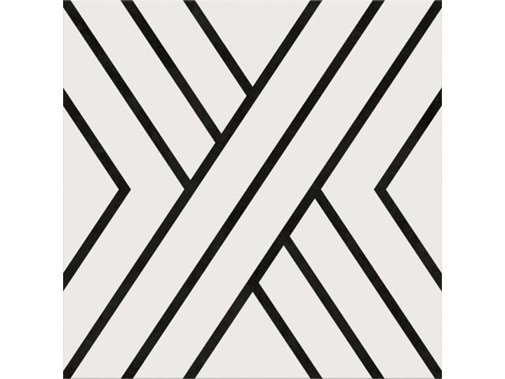 Gres szkliwiony PANEL LINES white-black 29,8x29,8 gat. I Płytki podłogowe Płytki ścienne 29,8x29,8 cm Kolor Biały Płytki tarasowe Płytki elewacyjne Kolor Czarny