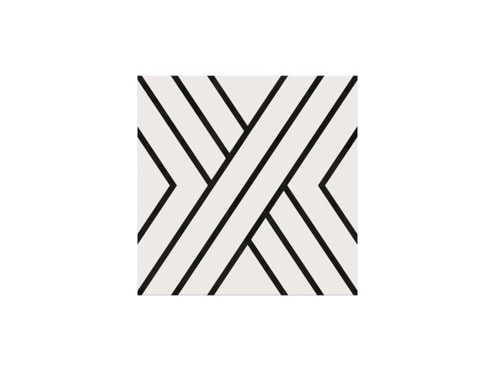 Gres szkliwiony PANEL LINES white-black 29,8x29,8 gat. I Płytki elewacyjne Płytki tarasowe 29,8x29,8 cm Płytki podłogowe Płytki ścienne Kolor Czarny
