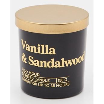 Sinsay - Świeca zapachowa Vanilla&Sandalwood 150 g - Czarny