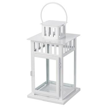 IKEA BORRBY Lampion, do wewnątrz/na zewnątrz biały, 28 cm