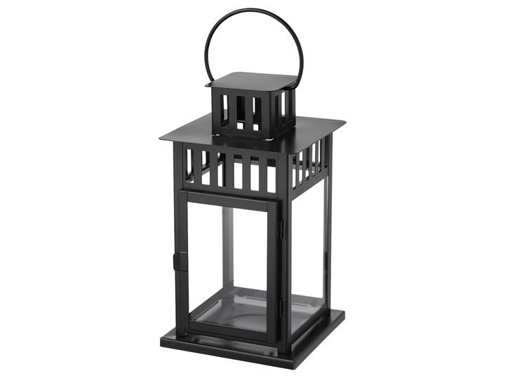 IKEA BORRBY Lampion, do wewnątrz/na zewnątrz czarny, 28 cm