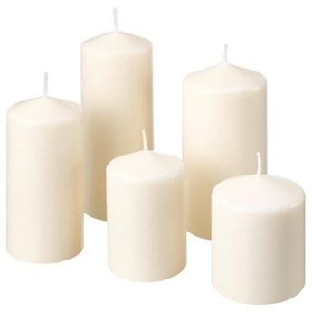 IKEA FENOMEN Bezzapachowa świeca brył, 5 szt, naturalny