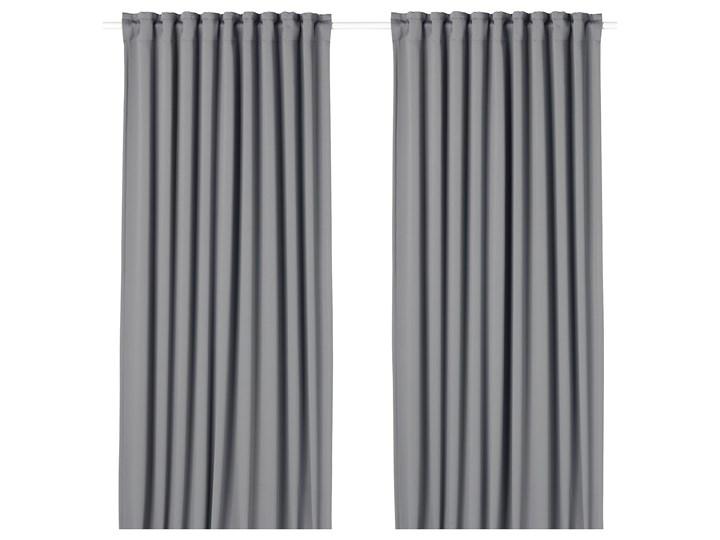 IKEA MAJGULL Zasłony zaciemniające, para, Szary, 145x300 cm Zasłona zaciemniająca Bawełna Mocowanie