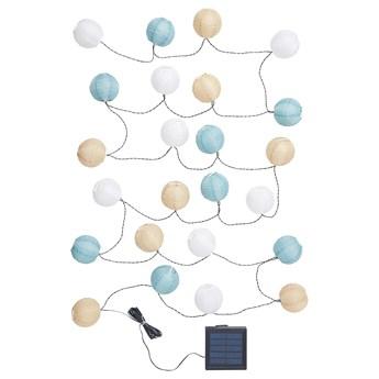 IKEA SOLVINDEN Girlanda LED, 24 lampki, zewnętrzne/kula wielobarwny, Długość do 1. lampy: 3.0 m