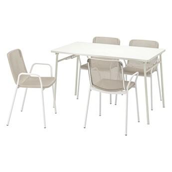 IKEA - TORPARÖ Stół+4 krzesła z podłok., na zew.