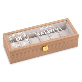 Szkatułka drewniana prostokątna na 6 zegarków z grawerem dla córki na