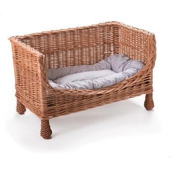 Wiklinowa sofa dla zwierząt, ławka, kanapa z poduszką