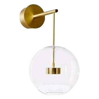 Kinkiet LAMPA ścienna CGBUBBLEKIN COPEL metalowa OPRAWA kula LED 14W 3000K ball złota przezroczysta