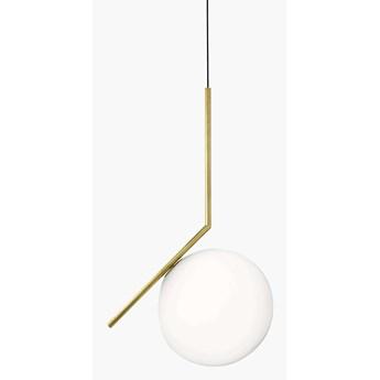 Wisząca LAMPA modernistyczna CGMLKUL20ZWIS COPEL kula OPRAWA szklany ZWIS ball złota biała