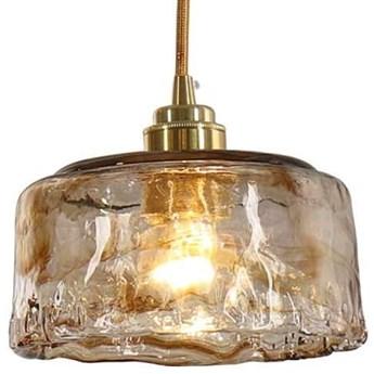 LAMPA wisząca CGLAV3 COPEL okrągła OPRAWA szklany ZWIS modernistyczny bursztynowy