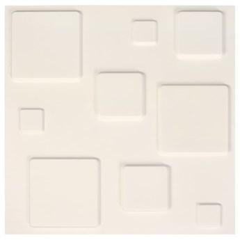 VidaXL Panele ścienne 3D, 12 szt., 0,5x0,5 m, 3 m²