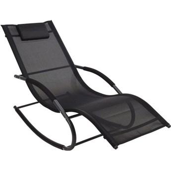 Fotel bujany z poduszką do ogrodu czarny