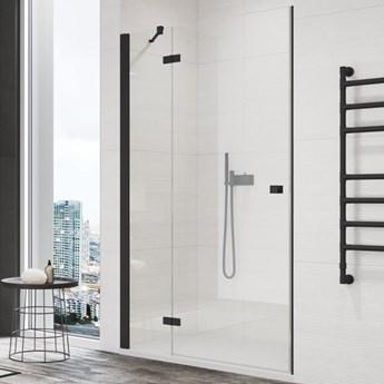 OUTLET Sanswiss Annea drzwi prysznicowe 120 cm lewe czarny mat AN13G12000607