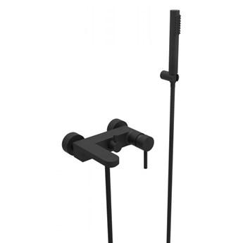 Bateria wannowo-prysznicowa Decco, ścienna, czarny mat