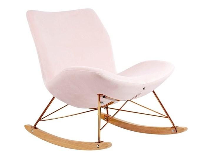 Fotel Bujany Swing Velvet Zielony Tkanina Plusz Drewno Pomieszczenie Salon