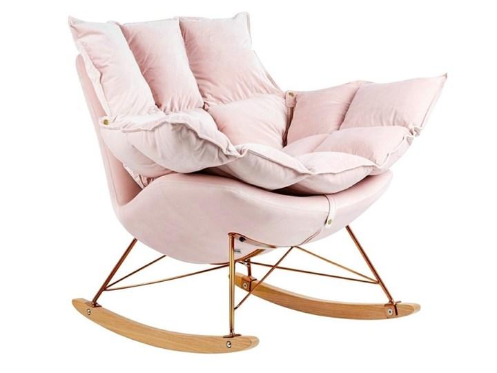Fotel Bujany Swing Velvet Zielony Plusz Tkanina Drewno Pomieszczenie Salon Kategoria Fotele do salonu