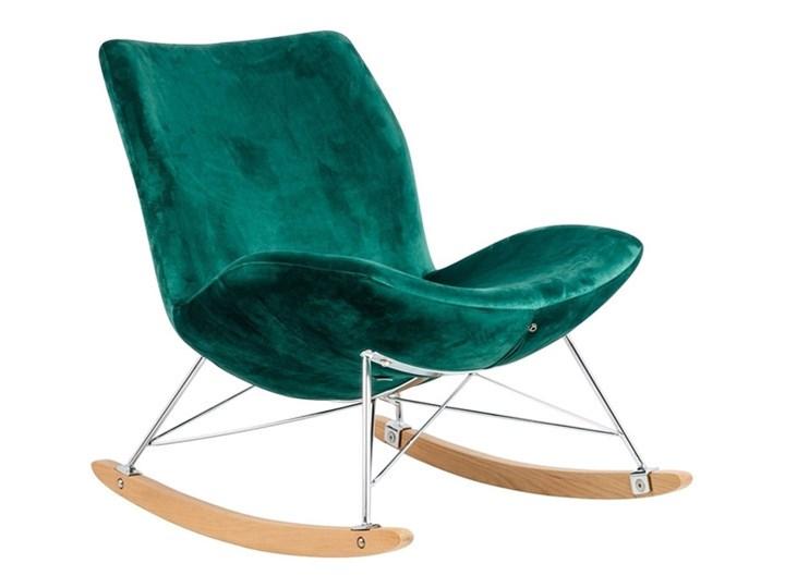 Fotel Bujany Swing Velvet Zielony Tkanina Drewno Pomieszczenie Salon Plusz Kategoria Fotele do salonu