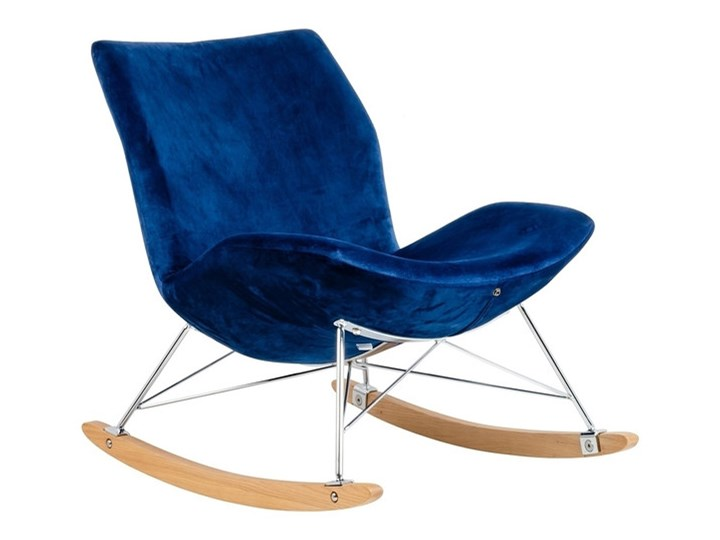 Fotel Bujany Swing Velvet Zielony Drewno Plusz Tkanina Pomieszczenie Salon