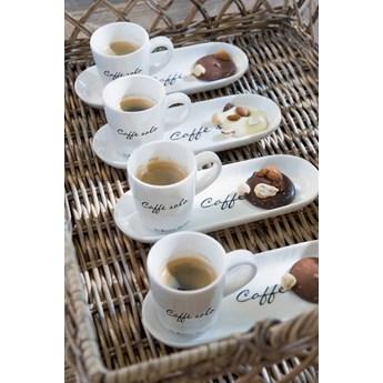 Filiżanka z talerzykiem Caffe Solo 18x7 cm Riviera Maison