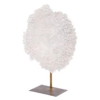 Biały koralowiec na podstawie East Hamptons 59x20x77cm