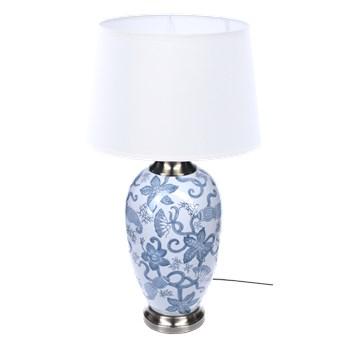 Lampa stołowa z abażurem Floris 23x23x54cm