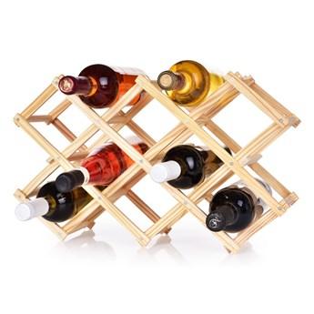 Składana drewniana winoteka/stojak na wino GoEco® na 10 butelek