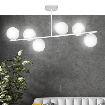 BIOR 6 WHITE 1021/6 lampa sufitowa plafon biała szklane klosze DESIGN