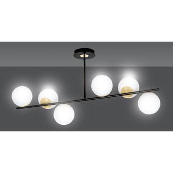 FLOKI 6 BLACK-GOLD 1022/6 lampa sufitowa plafon czarna złota DESIGN