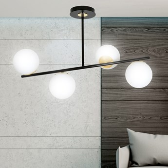 FLOKI 4 BLACK-GOLD 1022/4 lampa sufitowa plafon czarna złota DESIGN