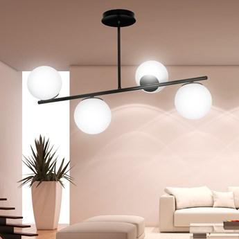 BIOR 4 BLACK 1020/4 lampa sufitowa plafon czarna szklane klosze DESIGN