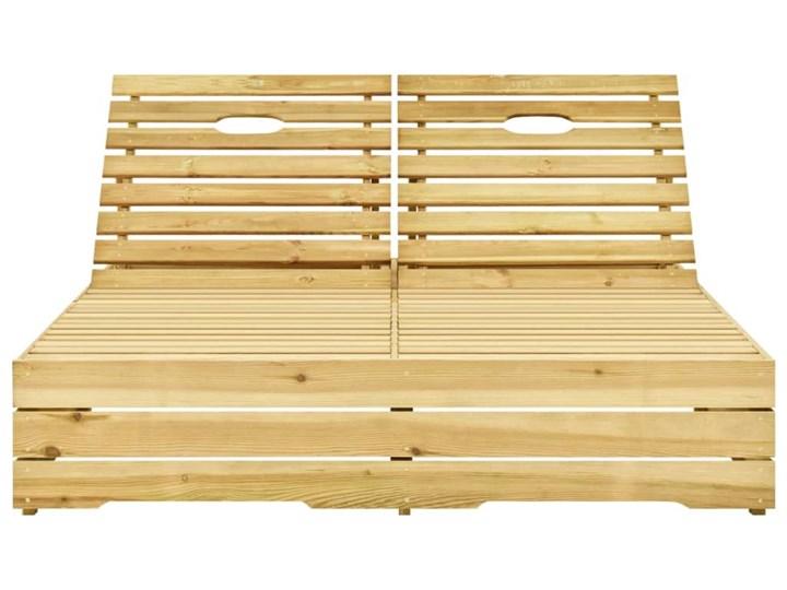 vidaXL Leżak podwójny, impregnowane na zielono drewno sosnowe Z regulowanym oparciem Styl Rustykalny