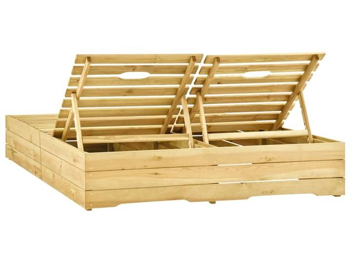 vidaXL Leżak podwójny, impregnowane na zielono drewno sosnowe Styl Rustykalny Z regulowanym oparciem Kategoria Leżaki ogrodowe