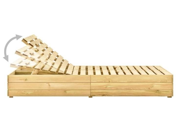 vidaXL Leżak podwójny, impregnowane na zielono drewno sosnowe Z regulowanym oparciem Kategoria Leżaki ogrodowe