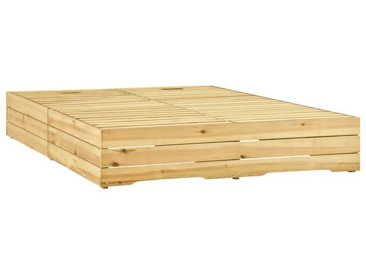vidaXL Leżak podwójny, impregnowane na zielono drewno sosnowe Kategoria Leżaki ogrodowe Z regulowanym oparciem Styl Rustykalny