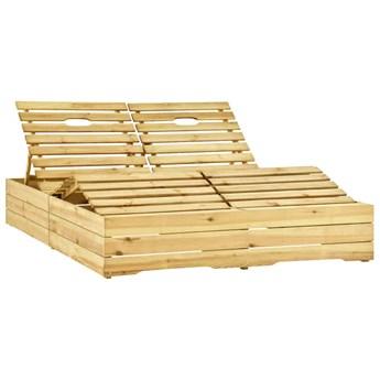 vidaXL Leżak podwójny, impregnowane na zielono drewno sosnowe