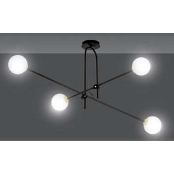 DIARF 4 BLACK GOLD 1012/4 lampa sufitowa plafon regulacja czarna złota DESIGN